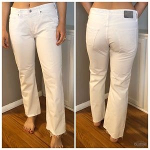 AG white cropped jeans